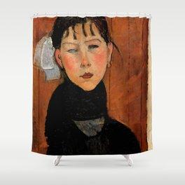 """Amedeo Modigliani """"Marie (Marie, fille du peuple)"""" Shower Curtain"""