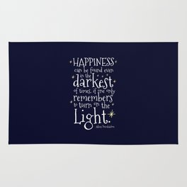 HAPPINESS CAN BE FOUND EVEN IN THE DARKEST OF TIMES - HP3 DUMBLEDORE QUOTE Rug