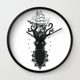 Colossal Squid Wall Clock