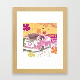 girl camper Framed Art Print