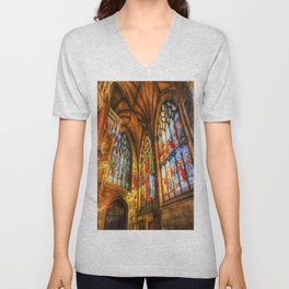 Evening Sun Cathedral Unisex V-Neck