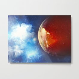 Sunsets on Mars are Blue Metal Print
