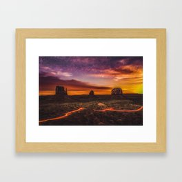 Moonrise at Monument Valley (USA) Framed Art Print