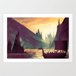 Voyage At Dawn Art Print