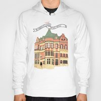 archer Hoodies featuring Archer Avenue by Nan Lawson