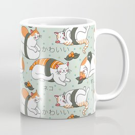 Kawaii Neko Sushi Coffee Mug