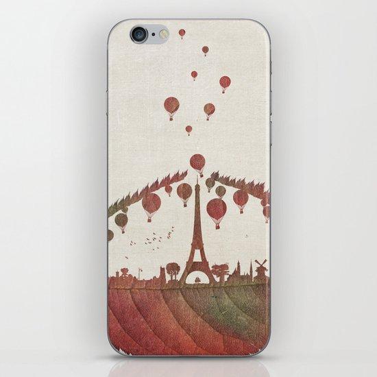 Magical Flight over Paris iPhone & iPod Skin