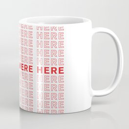 Wish You Were Here take-out inspired print Coffee Mug