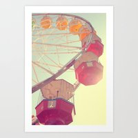 ferris wheel Art Prints featuring ferris wheel by shannonblue
