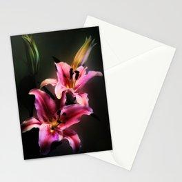 Pink Stargazer Lily Stationery Cards