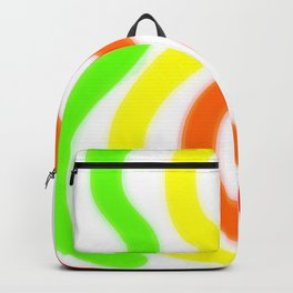 Blue Green Yellow Orange Red Wavy Lines Backpack