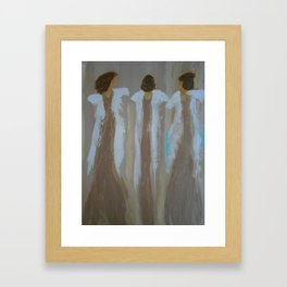 "Angel Painting, ""Sisters"" Framed Art Print"