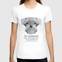 schnauzer T-shirts featuring The Schnauzer by The Origami Pet Collection