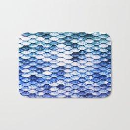 Mermaid Tail Ocean Indigo Blue Bath Mat