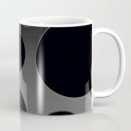 Contemporary Circle Silver and Black Coffee Mug