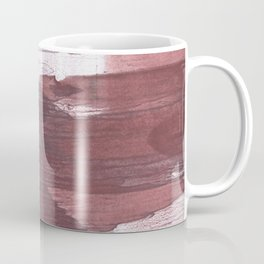 Burgundy Gray Coffee Mug