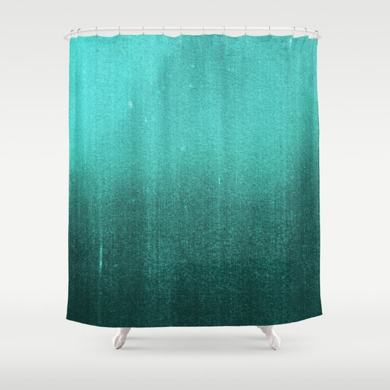 Blur Abyss Turquoise Green Shower Curtain By Daniel Coulmann Society6
