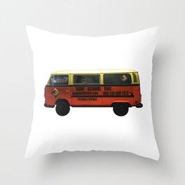 Surf School Bus Throw Pillow