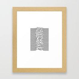 Joy Division - Unknown Pleasures (Black Lines) Framed Art Print