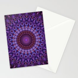Mandala in blue,pink and purple tones Stationery Cards