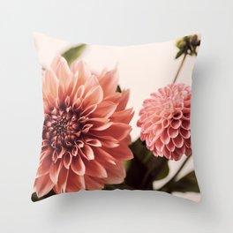 Dahlia Bouquet #1 Throw Pillow