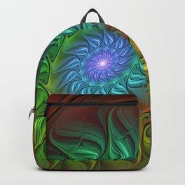 Colorful Spiral Fractal Backpack