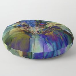 Mardi Gras Lhama Floor Pillow