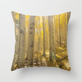 Good Vibes in The Forest Throw Pillow