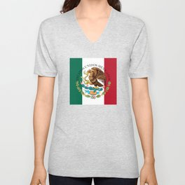 Mexican National Coat of Arms & Seal (HQ image) Unisex V-Neck