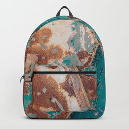 Teal and Rust Backpack