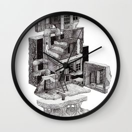Deconstructed House Wall Clock