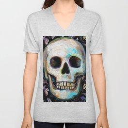 Witchy Skull w. Occult Pattern Unisex V-Neck
