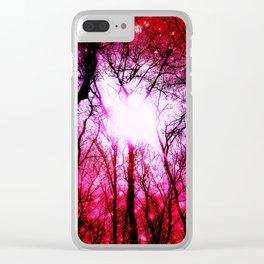 Romantic Wonderment Clear iPhone Case