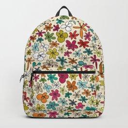 garland flowers multi Backpack