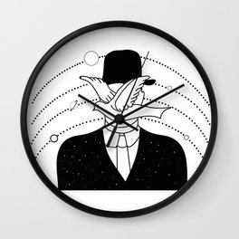 a man in a hat and a dove Wall Clock