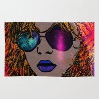 blondie Area & Throw Rugs featuring BLONDIE by AZZURRA DESIGNS