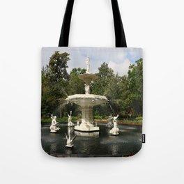 Forsyth Fountain in Forsyth Park Tote Bag