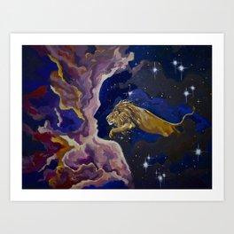 Aslan Is On the Move Art Print