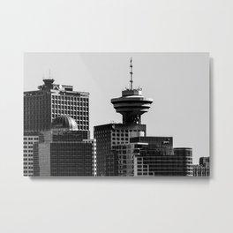 Vancouver City Skyline Metal Print