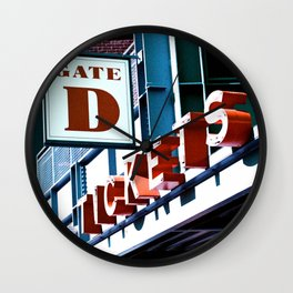Fenway Gate D Tickets Wall Clock