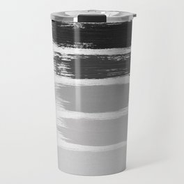 Black & White Stripes Travel Mug