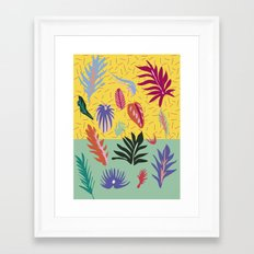Jungle Leaf Study Framed Art Print