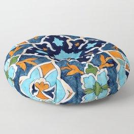 Mediterranean tile Floor Pillow