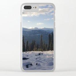 Winter Sunbeam Clear iPhone Case