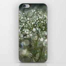 bokeh grass iPhone Skin