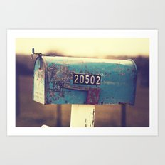 2 0 5 0 2 { you've got mail series} Art Print