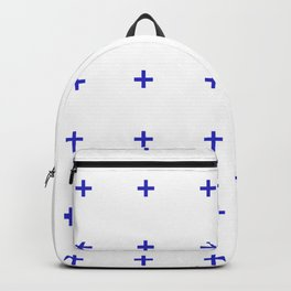 PLUS ((berry blue on white)) Backpack