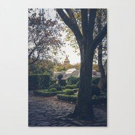 dugald Stewart monument seen from public garden Edinburgh Scotland Canvas Print