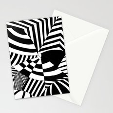 Op art pattern Stationery Cards
