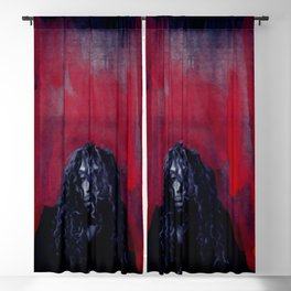 African American Masterpiece 'The Abyss' Young Man from Harlem portrait painting Blackout Curtain
